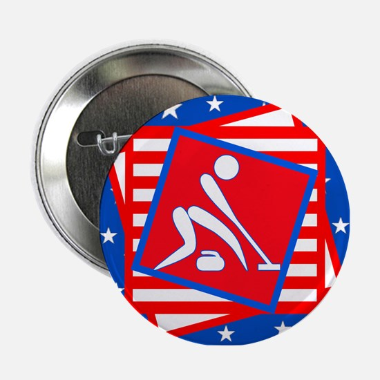"""Curling American Style 2.25"""" Button"""