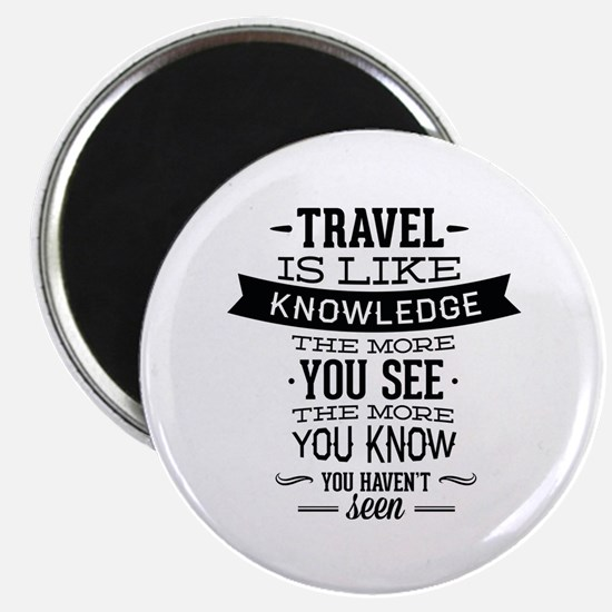 Travel Is Like Knowledge Magnet