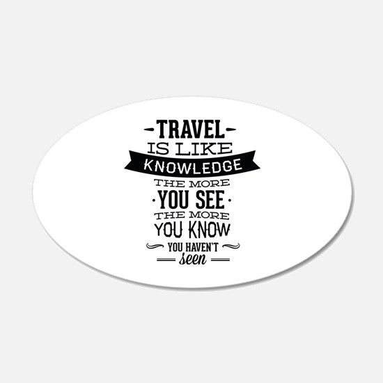 Travel Is Like Knowledge 22x14 Oval Wall Peel