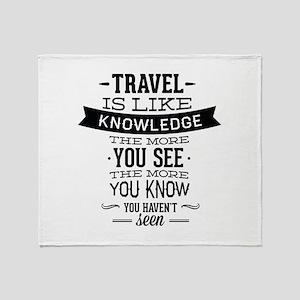 Travel Is Like Knowledge Stadium Blanket