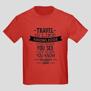 Travel Is Like Knowledge Kids Dark T-Shirt