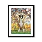Spring with a Boxer Framed Panel Print