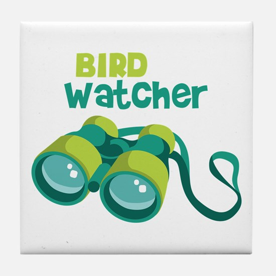 Bird Watcher Tile Coaster