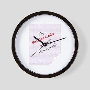 Bearded Homework Wall Clock