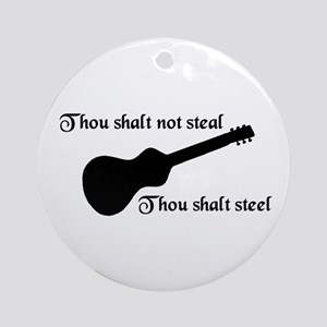 Thou shalt not steal Ornament (Round)