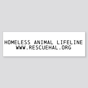 Homeless Animal Lifeline Bumper Sticker