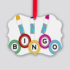BINGO WITH MARKERS Picture Ornament