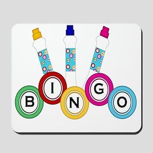 BINGO WITH MARKERS Mousepad