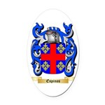 Espinos Oval Car Magnet