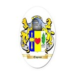 Espino Oval Car Magnet