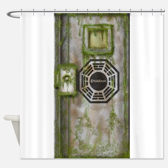 Lost Mossy Hatch Dharma Shower Curtain