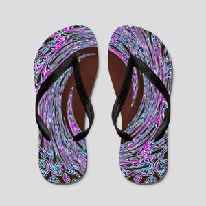 In The Pink Colorfoil Bandanna Twirl Flip Flops