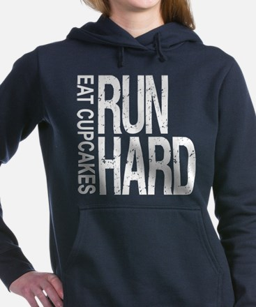 Run Hard Eat Cupcakes Hooded Sweatshirt