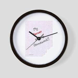 Bernese Homework Wall Clock