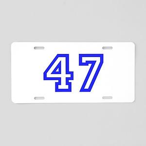 #47 Aluminum License Plate