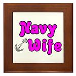 Navy Wife ver2 Framed Tile