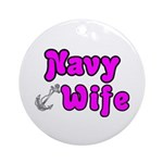 Navy Wife ver2 Ornament (Round)