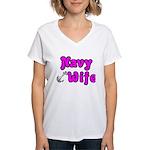 Navy Wife ver2 Women's V-Neck T-Shirt