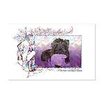 Fairy Princess Cairn Mini Poster Print