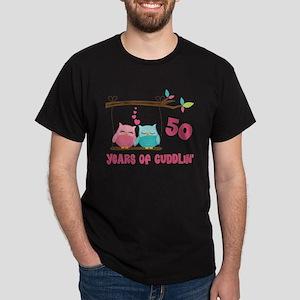 50th Anniversary Owl Couple Dark T-Shirt