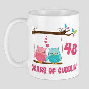 48th Anniversary Owl Couple Mug