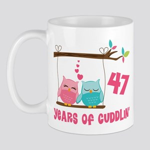 47th Anniversary Owl Couple Mug