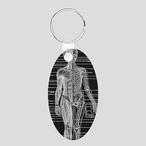 Dr Human Body Aluminum Oval Keychain