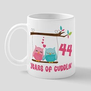 44th Anniversary Owl Couple Mug