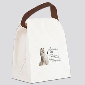 Birman Cat Canvas Lunch Bag