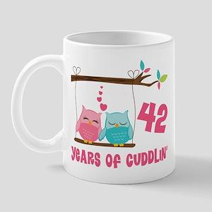 42nd Anniversary Owl Couple Mug