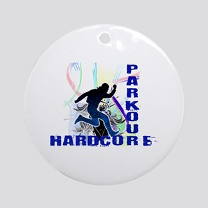Free Running Parkour Hardcore Ornament (Round)