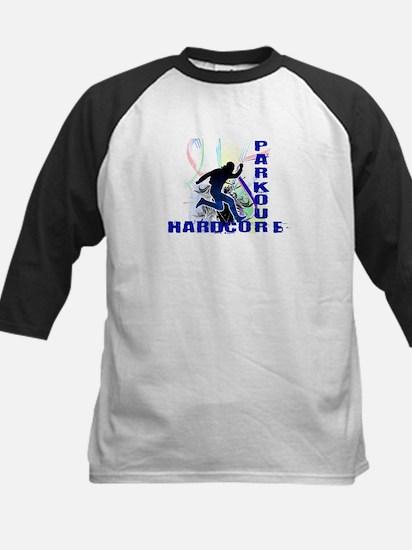 Free Running Parkour Hardcore Kids Baseball Jersey