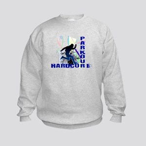 Free Running Parkour Hardcore Kids Sweatshirt