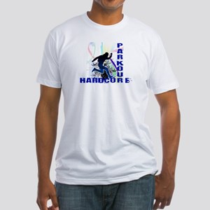 Free Running Parkour Hardcore Fitted T-Shirt