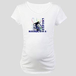 Free Running Parkour Hardcore Maternity T-Shirt