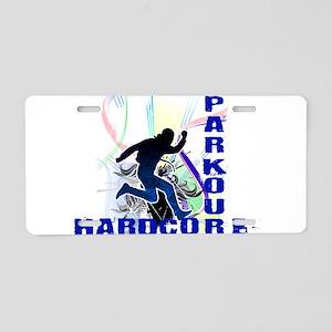 Free Running Parkour Hardcore Aluminum License Pla