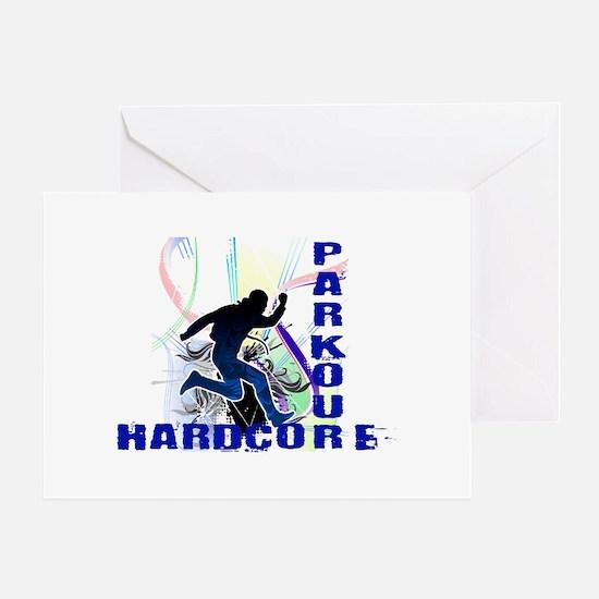 Free Running Parkour Hardcore Greeting Card