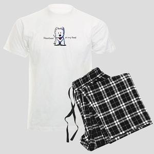 Westie Heartbeat Men's Light Pajamas