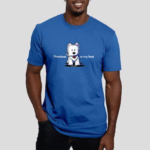 Westie Heartbeat Men's Fitted T-Shirt (dark)