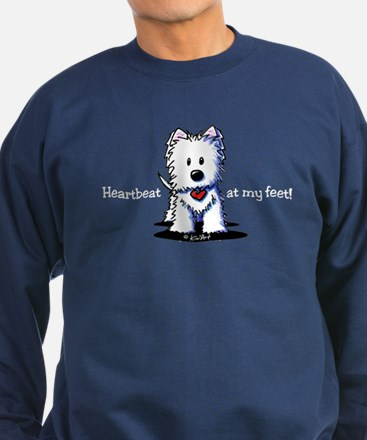 Westie Heartbeat Sweatshirt (dark)