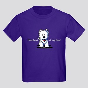 Westie Heartbeat Kids Dark T-Shirt