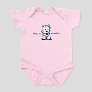 Westie Heartbeat Infant Bodysuit