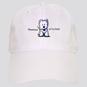 Westie Heartbeat Cap