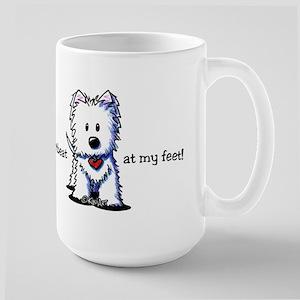 Westie Heartbeat Large Mug