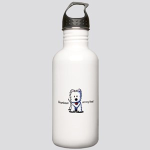 Westie Heartbeat Stainless Water Bottle 1.0L