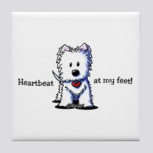 Westie Heartbeat Tile Coaster