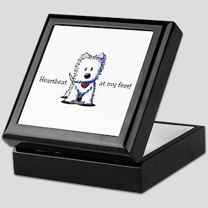 Westie Heartbeat Keepsake Box