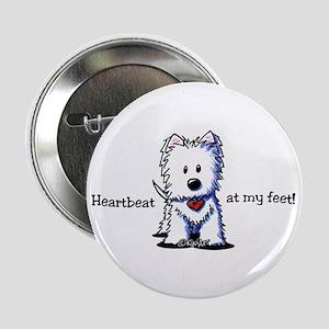 """Westie Heartbeat 2.25"""" Button"""