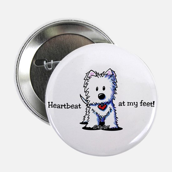 "Westie Heartbeat 2.25"" Button"