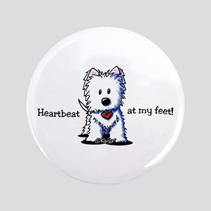 "Westie Heartbeat 3.5"" Button"